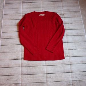 Faded Glory | Women's Knitted Sweater, Red, M